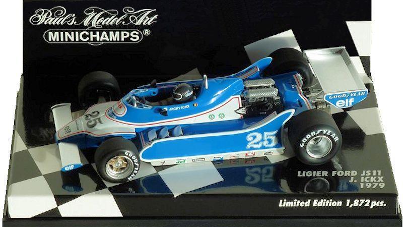 Minichamps Ligier Ford JS11 #25 1979 Jacky Ickx 1//43 Scale